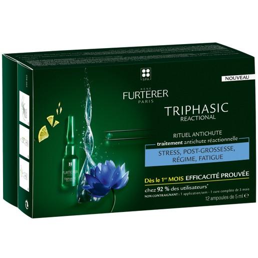 Rene Furterer Triphasic Reactionel Anti-Hair Loss Ritual Αγωγή Κατά της Αντιδραστικής Τριχόπτωσης 12 ampoules x 5ml
