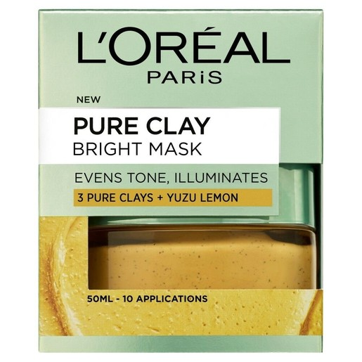 L\'oreal Paris Pure Clay Bright Mask Μάσκα Αργίλου για Ομοιόμορφο Τόνο & Λάμψη 50ml