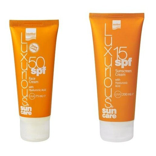 Luxurious Sun Care Face Cream Spf50 Αντηλιακή Προσώπου 75ml & Body Cream Spf15 Αντηλιακό Σώματος 200ml
