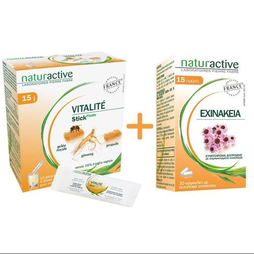 Naturactive Πακέτο Προσφοράς Vitalite Φυσικό Συμπλήρωμα για Ενίσχυση του Ανοσοποιητικού 15sachets & Δώρο Echinachea 30caps