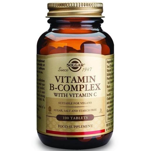 Solgar B-Complex With Vitamin C 100 tabs