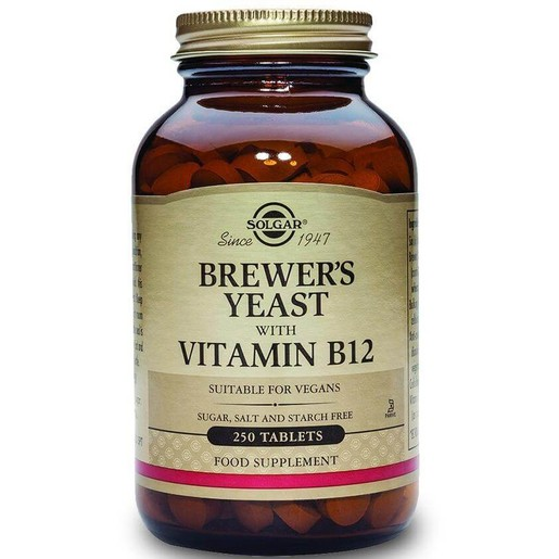 Solgar Brewer's Yeast With Vitamin B12 500mg 250 tabs