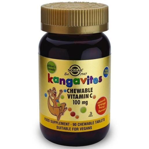 Solgar Kangavites Chewable Vitamin C 100mg 90 tabs