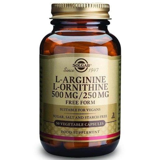 L-Arginine L-Ornithine 500mg/250mg 50 veg.caps - Solgar