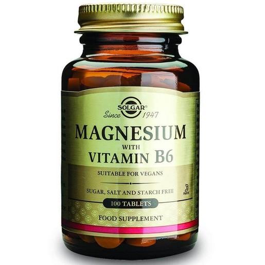 Solgar Magnesium + Β6 100  tabs