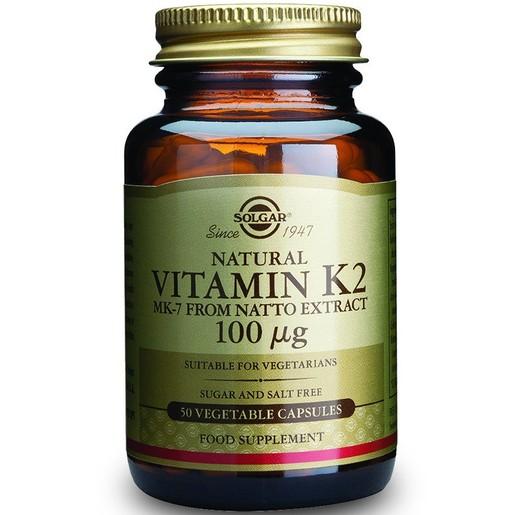 Solgar Vitamin Κ2 100mcg 50veg.caps