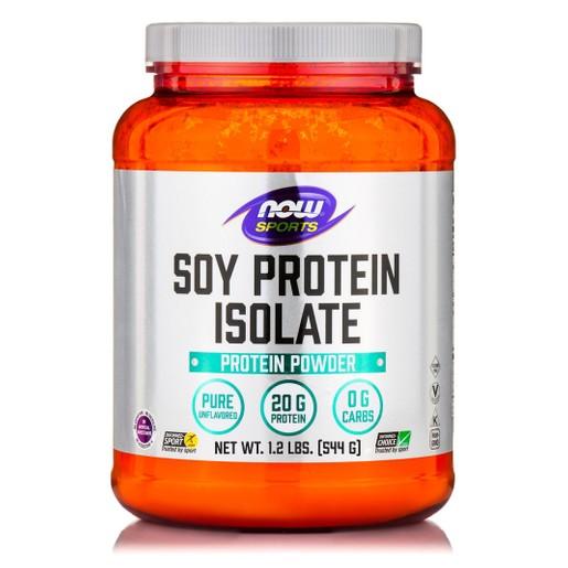 Now Foods Soy Protein Isolate Non-GMO Vegetarian Unflavored Powder Φυτική Πηγή Υψηλής Ποιότητας Πλήρους Πρωτεΐνης από Σόγια 544g