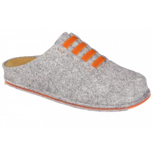 Dr Scholl Shoes Spikey10 Γκρι-Πορτοκαλί Γυναικείες Ανατομικές Παντόφλες Χαρίζουν Σωστή Στάση, Φυσικό Χωρίς Πόνο Βάδισμα 1Ζευγάρι