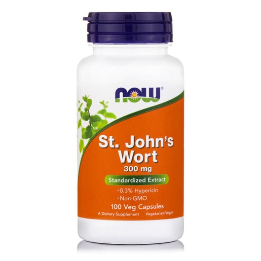 Now Foods St. John\'s Wort 300mg Συμπλήρωμα Διατροφής από Βαλσαμόχορτο, με Καταπραϋντικές & Ηρεμιστικές Ιδιότητες 100 VegCaps