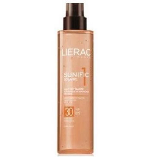 Lierac Sunific Huile Satinante Spf30 Ενεργοποίηση Του Μαυρίσματος  Αντιγηραντική Δράση Spray 125ml