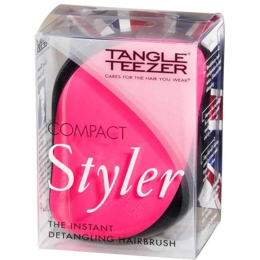 Tangle Teezer Compact Styler Καινοτόμα Βούρτσα με Κάλυμμα Ασφαλείας, που Ξεμπερδεύει Εύκολα και Χωρίς Πόνο τα Μαλλιά 1 τεμάχιο