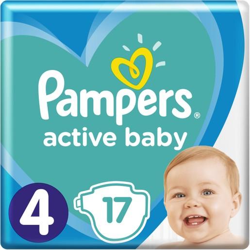 Pampers Active Baby Πάνες Νο4 (9-14 kg), 17 Πάνες