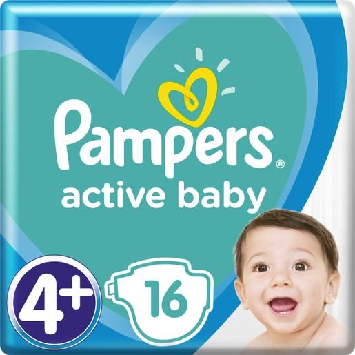 Pampers Active Baby Πάνες Νο4+ (10-15 kg), 16 Πάνες