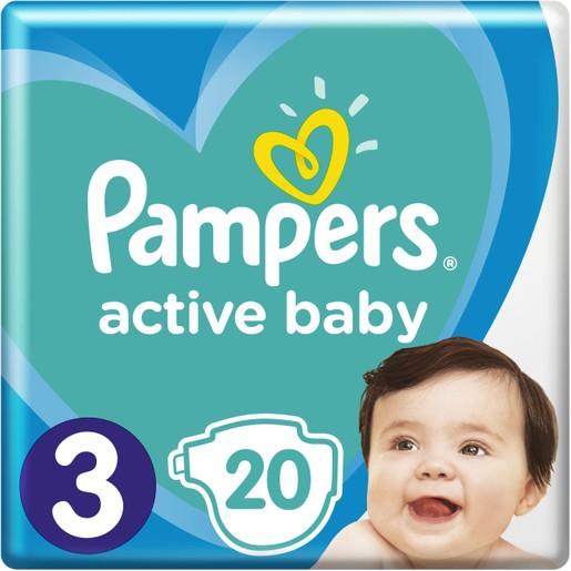 Pampers Active Baby No3 (6-10 kg) 20 πάνες
