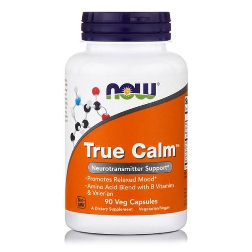 Now Foods True Calm™ (Amino Rexalier) Συμπλήρωμα Διατροφής Ιδανικό για Χαλάρωση του Οργανισμού & Ισορροπημένη Διάθεση 90 VegCaps