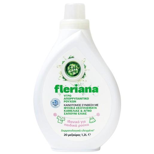 Power Health Fleriana Υγρό Απορρυπαντικό Ρούχων Από Εκχυλίσματα Καμέλιας & Πράσινο Σαπούνι Ελιάς & Άρωμα Φρεσκάδας 1,2Lt