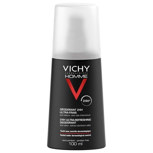 Homme Deodorant 24h Ultra Refreshing 100ml - Vichy