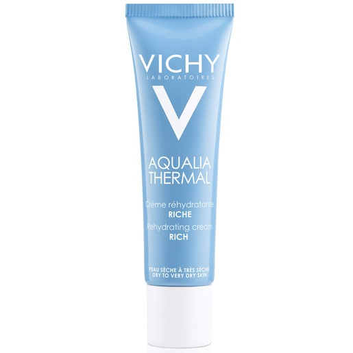 Vichy Aqualia Thermal Rich Rehydrating Cream Ενυδατική Κρέμα ΗμέραςΠλούσιας Υφής για Ξηρή Επιδερμίδα30ml