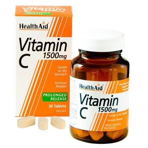 Health Aid Vitamin C 1500mg With Bioflavonoids 30tabs