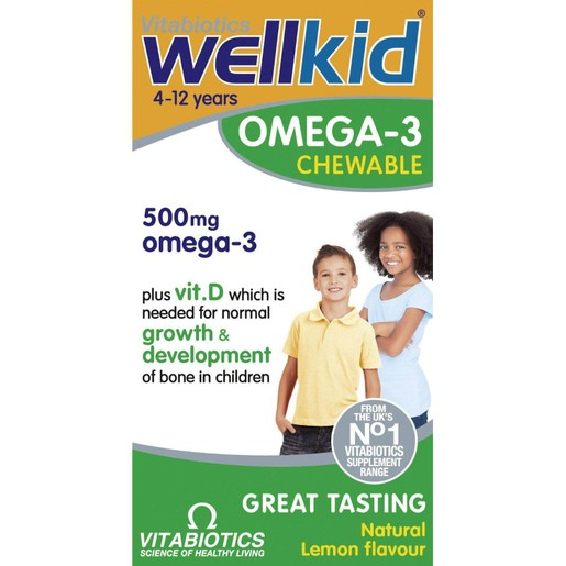 Vitabiotics Wellkid Omega 3 500mg 60 chewable tabs