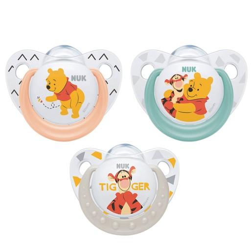Nuk Trendline Disney Winnie the Pooh Πιπίλα Σιλικόνης με Κρίκο 1 Τεμάχιο