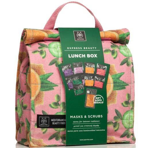 Apivita Πακέτο Προσφοράς Εντατικής Λάμψης με 5 Express Beauty 2x8ml & Δώρο Hair Mask Orange 20ml & Lunch Box