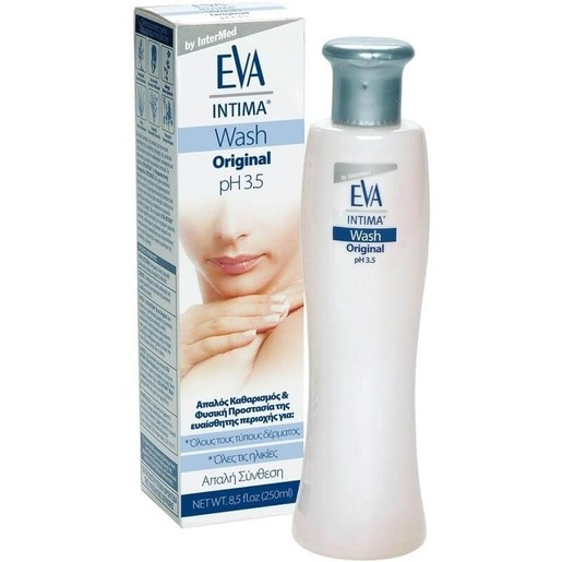 Eva Intima Wash Original pH 3.5 Καθαρισμός και Φροντίδα Ευαίσθητης Περιοχής 250ml