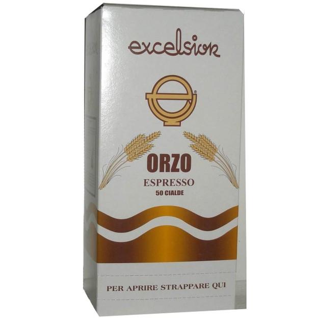 Excelsior Orzo Espresso Coffee Pods Φυτικό Υποκατάστατο Καφέ Από Κριθάρι 50 Τεμάχια