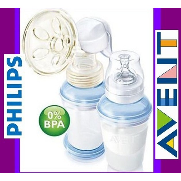Philips Avent Χειροκίνητο Θήλαστρο Με Κύπελλα Αποθήκευσης Γάλακτος SCF310/12