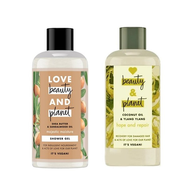 Δώρο Love Beauty & Planet Shampoo Ylang Ylang & Coconut Oil 100ml & Shower Gel Shea Butter & Sandalwood Oil 100ml