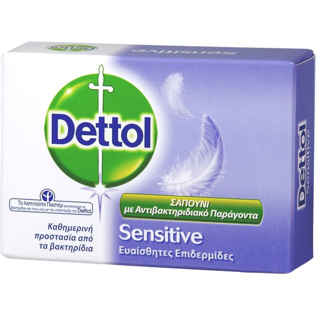 Dettol Sensitive Σαπούνι Μπάρα για Ευαίσθητες Επιδερμίδες 100gr