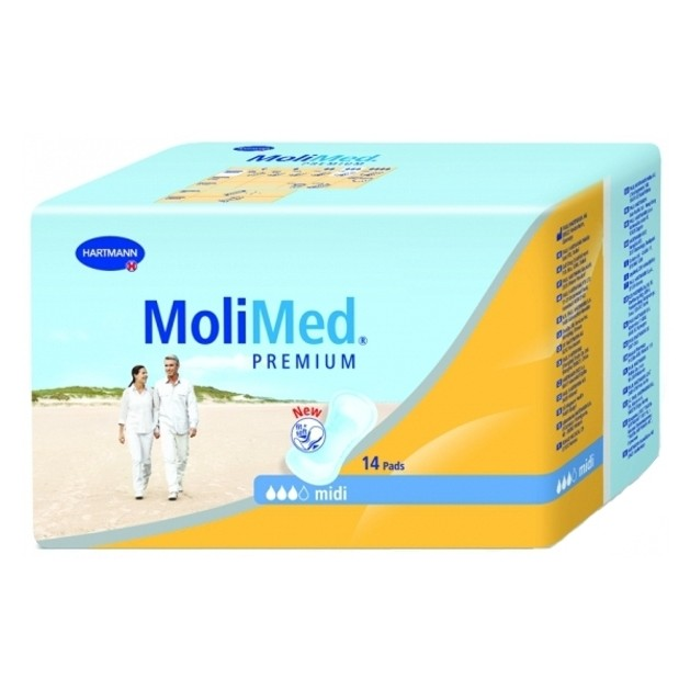 Hartmann Molimed Premium Mini Σερβιέτες Για Ελαφριά Εως Μέτρια Ακράτεια 14 τμχ