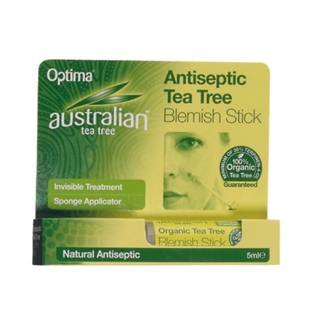 Optima Australian Tea Tree Antiseptic Blemish Stick Αόρατη Αντισηπτική Προστασία 5ml
