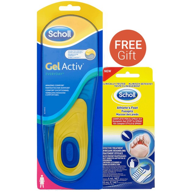 Dr Scholl Gel Activ Everyday Γυναικείοι Πάτοι & Δώρο Foot Fungal Kit (Pen 4ml & Spray 10ml)