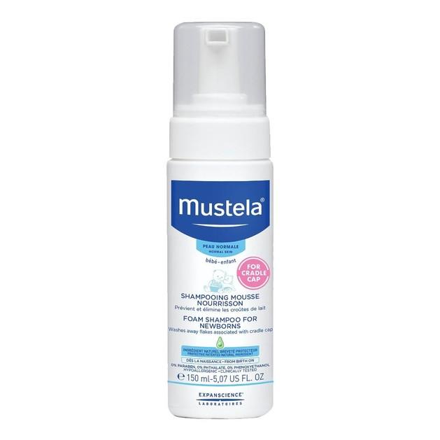 Mustela Cradle Cap Baby Foam Shampoo Σαμπουάν σε Μορφή Αφρού για τη Νινίδα 150ml