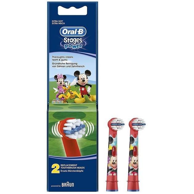Δώρο Oral-b Stages Power Mickey Ανταλλακτικές Κεφαλές για Παιδιά 2 τεμάχια