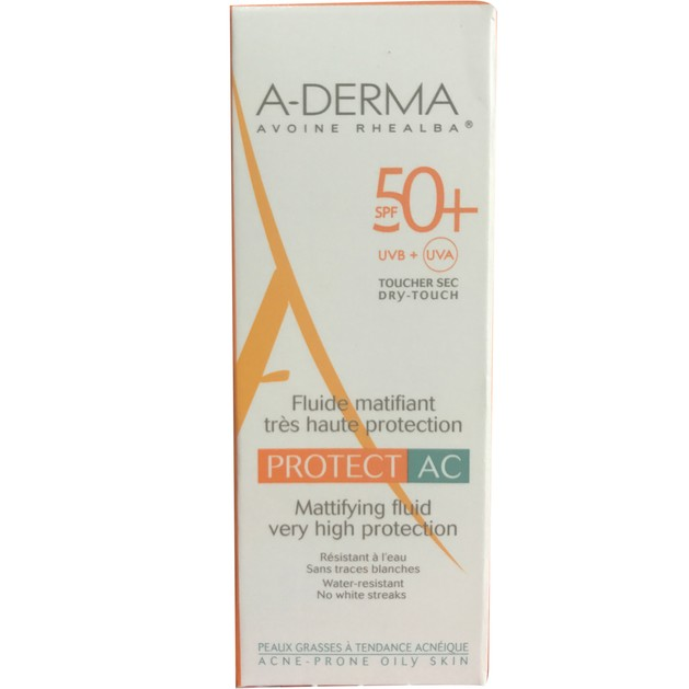 Δώρο A-Derma Protect AC Fluide Matifiant Spf50+ Αντηλιακή Κρέμα Προσώπου Ματ Αποτέλεσμα για Λιπαρές Επιδερμίδες 5ml