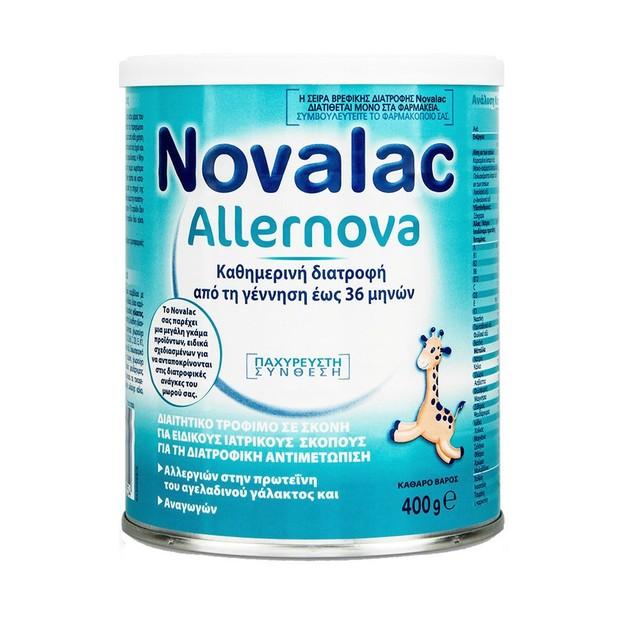 Novalac Allernova Διαχειρίζεται Την Αλλεργία Στην Πρωτεΐνη Του Γάλακτος Και Τις Διαταραχές Παλινδρόμησης 400gr