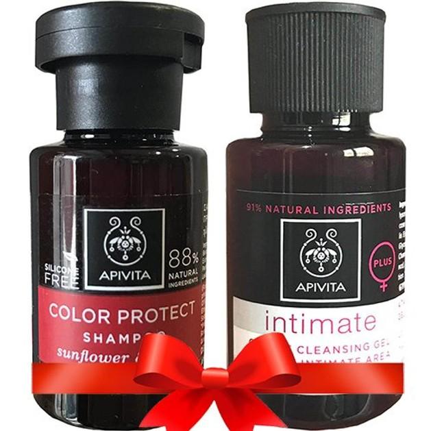 Δώρο Apivita Color Protect Σαμπουάν Προστασίας Χρώματος με Ηλίανθο & Μέλι 20ml & Intimate Care Plus Απαλό Gel Καθαρισμού 20ml