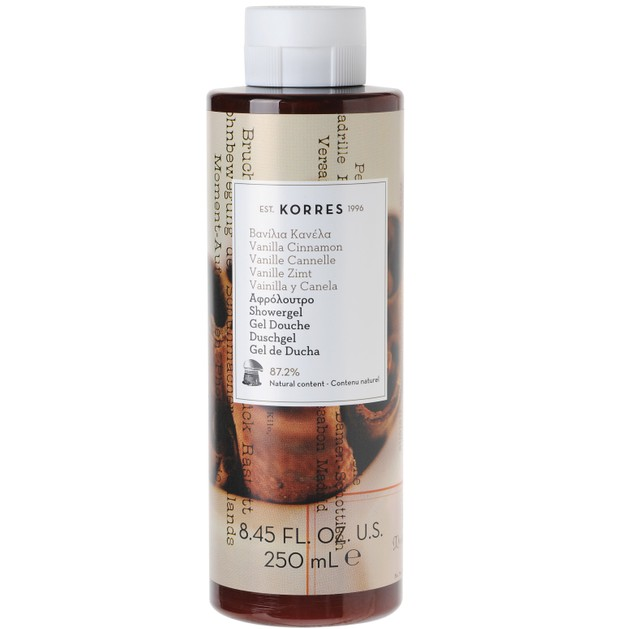 Korres Showergel Vanilla Cinamon 250ml