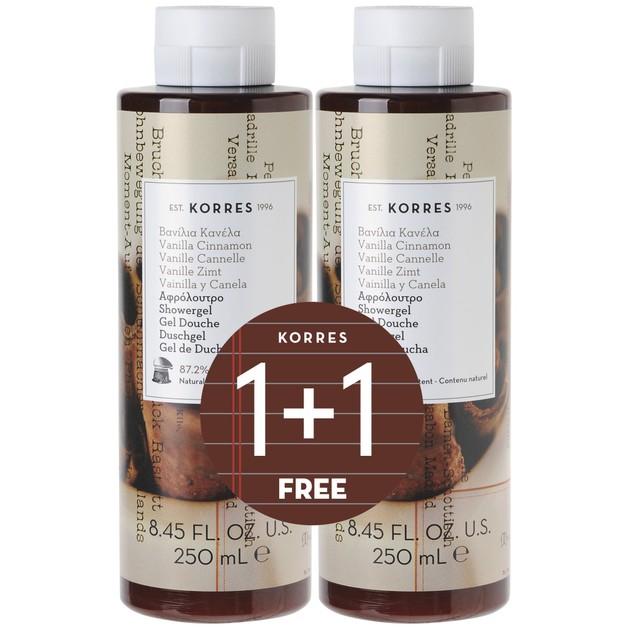 Korres Vanilla Cinnamon 1+1 Δώρο 2x250ml
