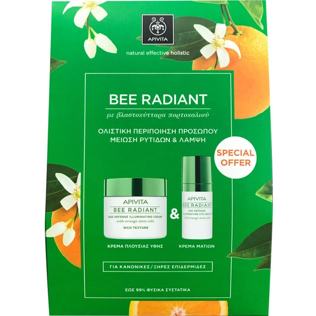 Apivita Πακέτο Προσφοράς Bee Radiant Age Illuminating Day Rich Cream 50ml & Δώρο Eye Cream 15ml