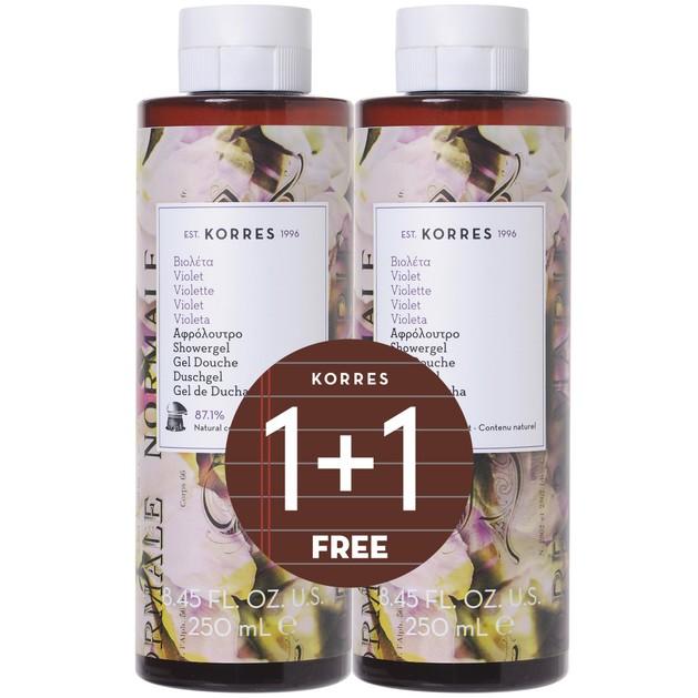 Korres Πακέτο Προσφοράς Shower Gel Violet 2x250ml 1+1 Δώρο
