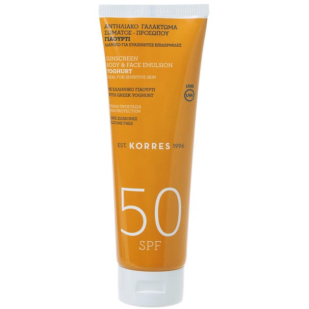 Korres Yoghurt Sunscreen Body & Face Emulsion Spf50 250ml