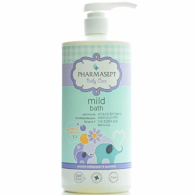 Δώρο Pharmasept Tol Velvet Baby Mild Bath Παιδικό Αφρόλουτρο για Σώμα & Μαλλιά Χωρίς Αλκάλια ή Σαπούνι με Ουδέτερο pH7 1Lt