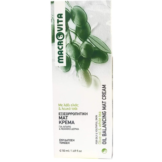 Oil Balancing Mat Cream 50ml - Macrovita