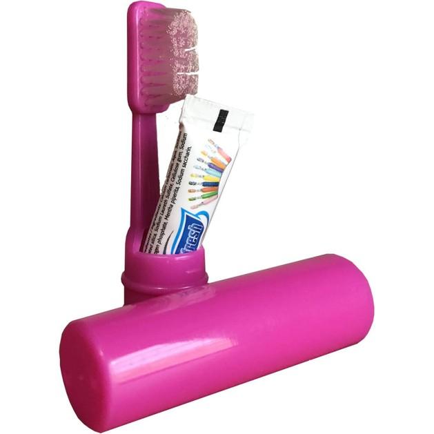 Δώρο Mini Size Οδοντόβουρτσα - Οδοντόκρεμα σε Ροζ Συσκευασία