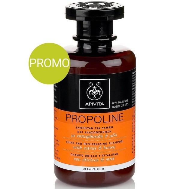Apivita Propoline Σαμπουάν Για Λάμψη Και Αναζωογόνηση Με Εσπεριδοειδή & Μέλι Προσφορά -20% 250ml