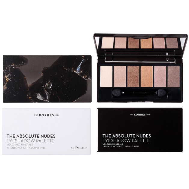 Korres Volcanic Minerals Eyeshadow Palette The Absolute Nudes 6g
