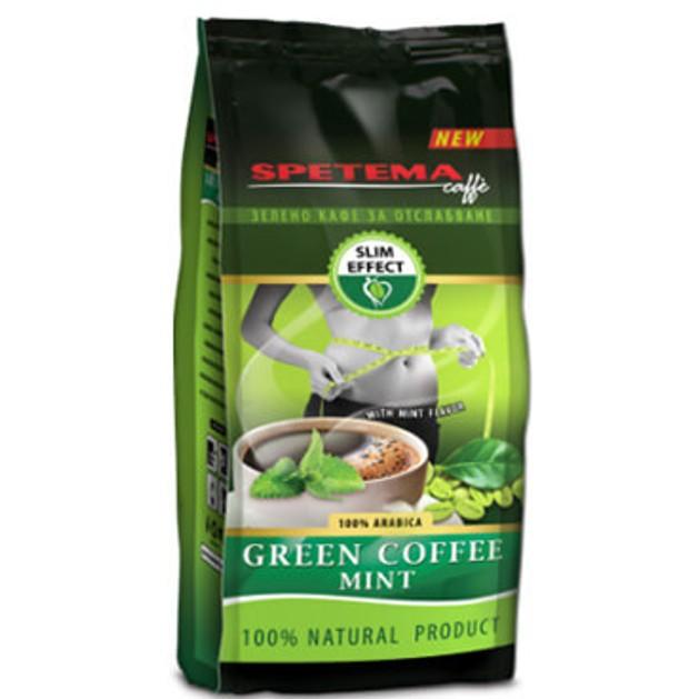 Spetema Caffe Green Coffee Mint Πράσινος Ωμός Καφές με Γεύση Μέντα 100gr